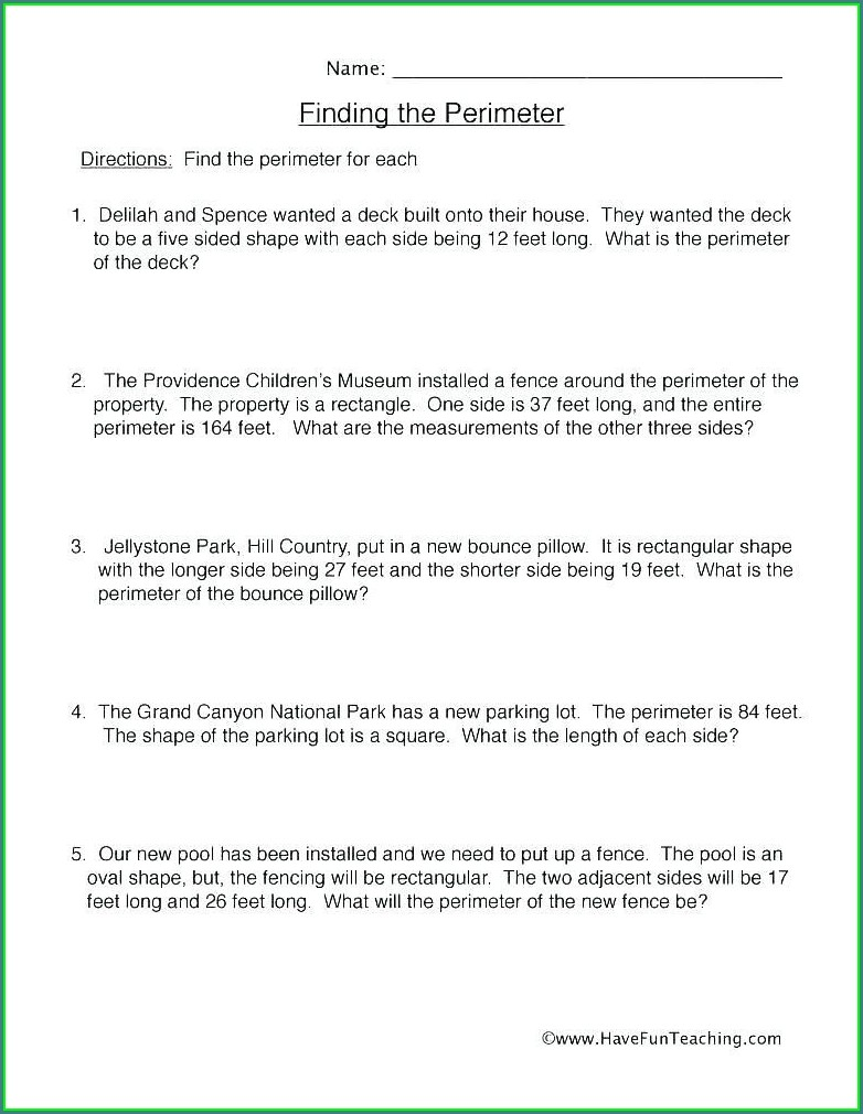 Volume Word Problems 5th Grade Worksheet