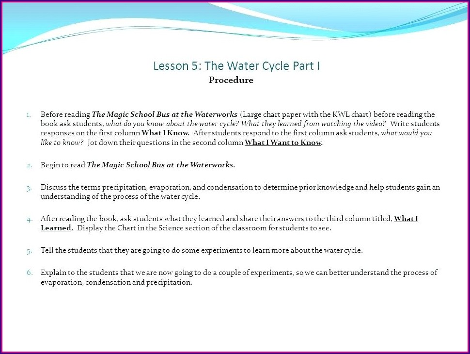 Water Cycle Worksheet 4th Grade