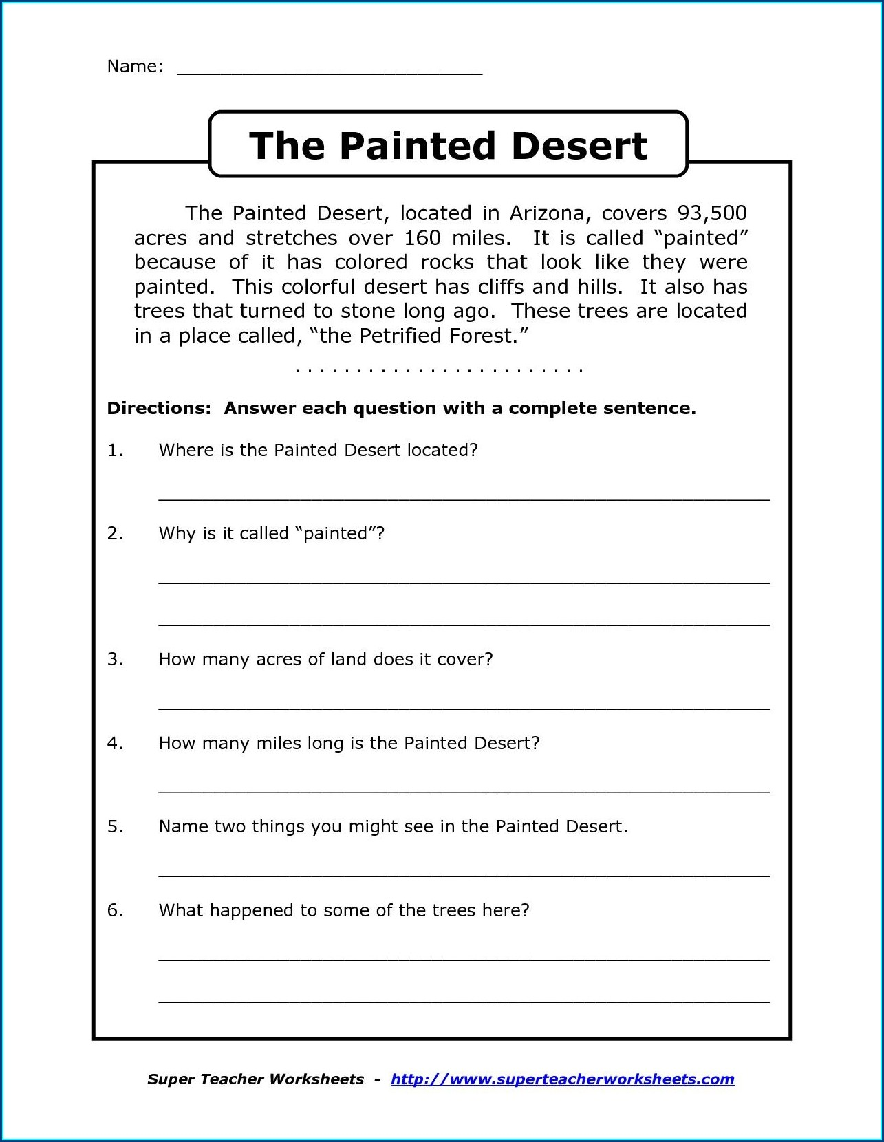 Wh Questions Reading Comprehension Worksheets Pdf