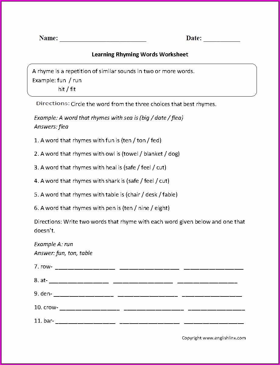 Word Classes Worksheet Year 4