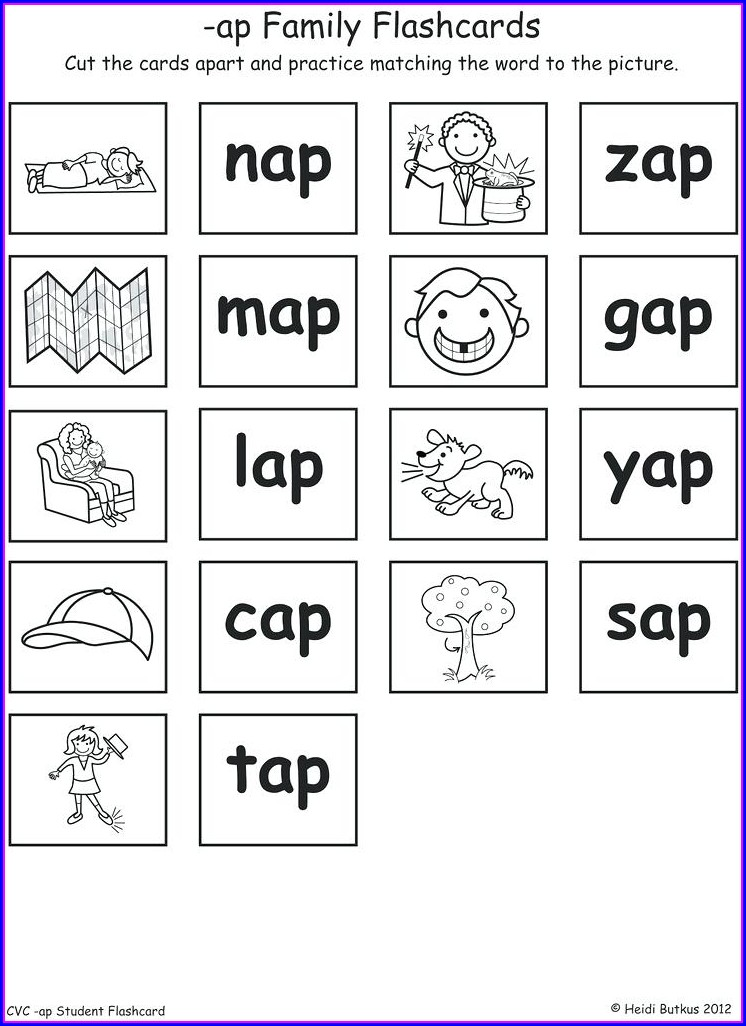 Word Family Posters For Kindergarten