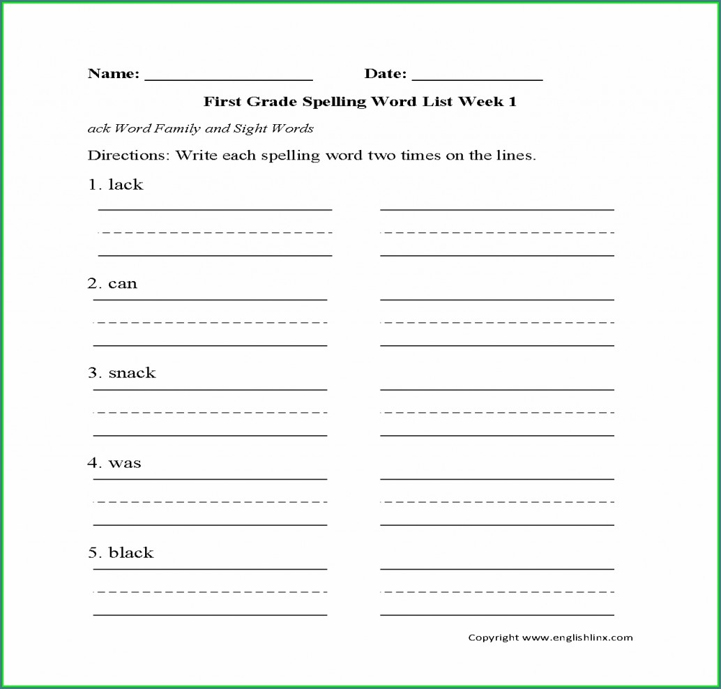 Word Family Worksheets Year 3