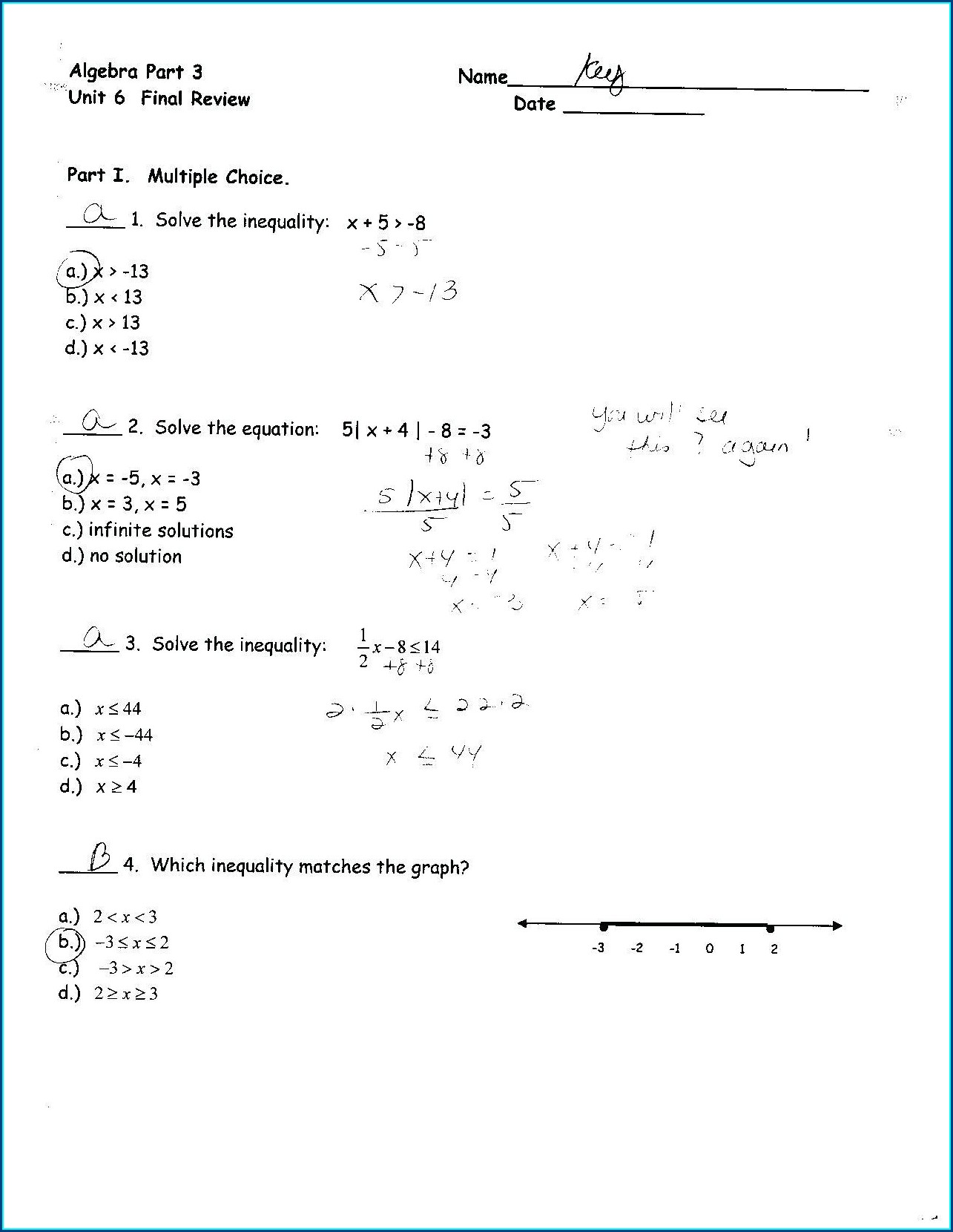 Word Problems For Linear Equations Worksheet