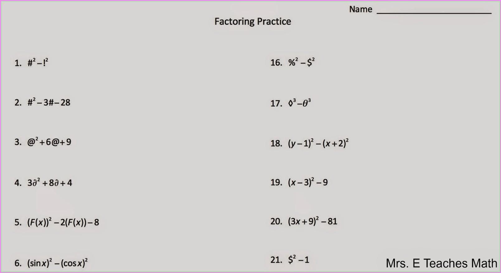 Word Problems Involving Quadratic Equations Worksheet