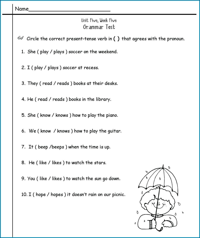 Worksheet For Second Graders