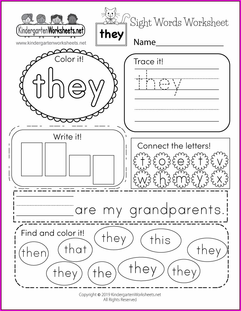 Worksheet For Sight Word Has