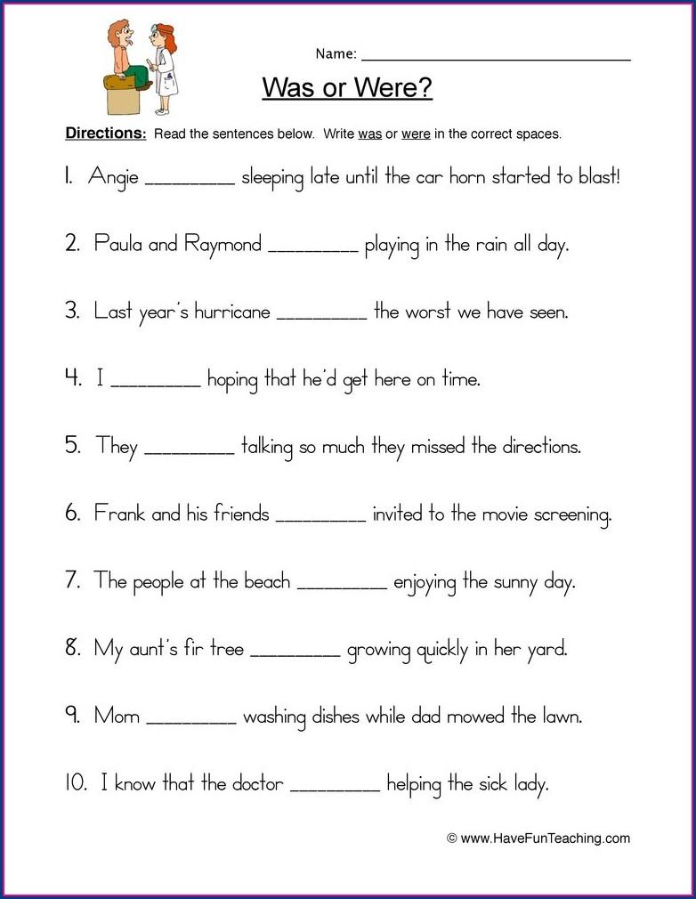 Worksheet Grade 2 English