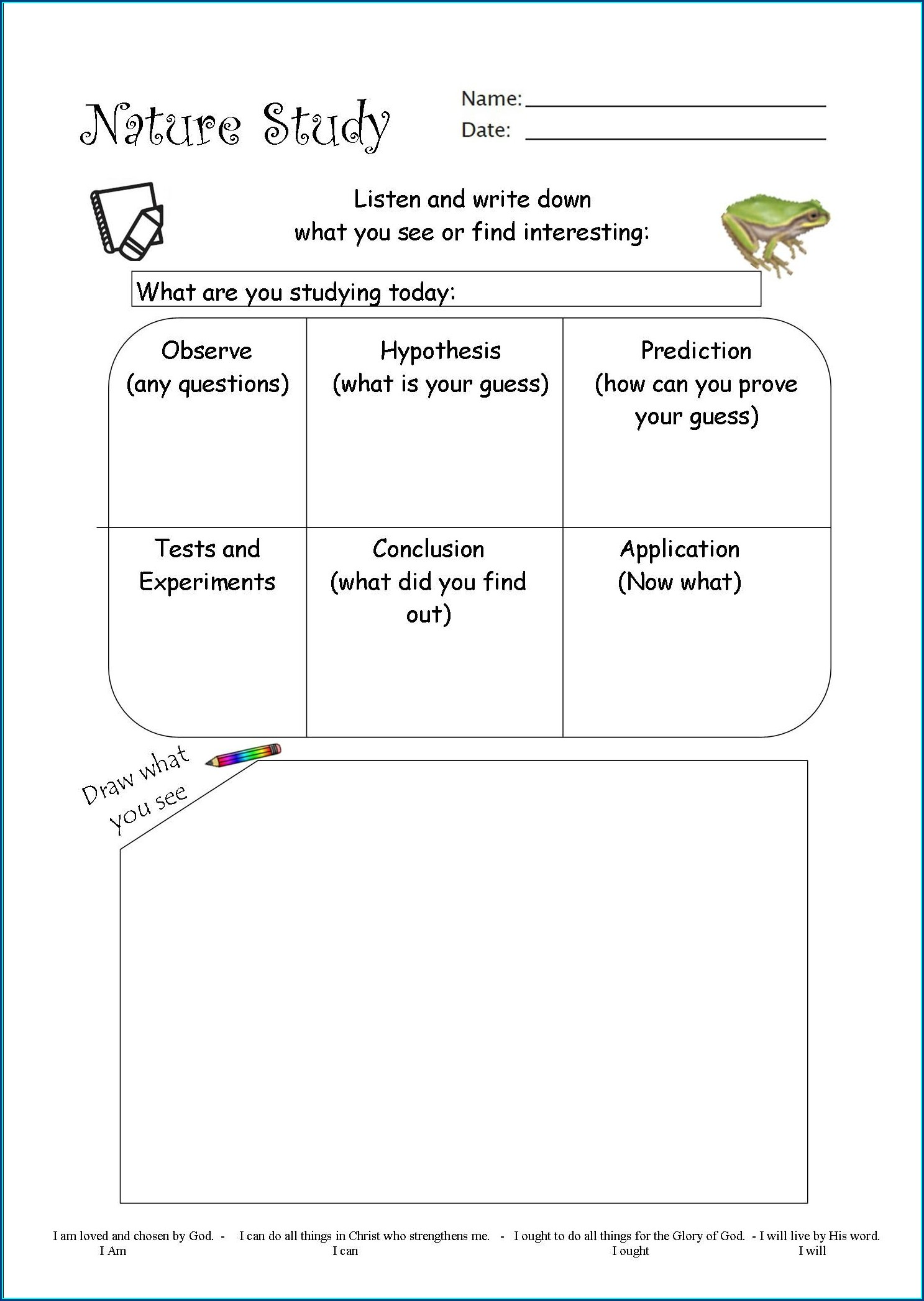 Worksheet In Scientific Method