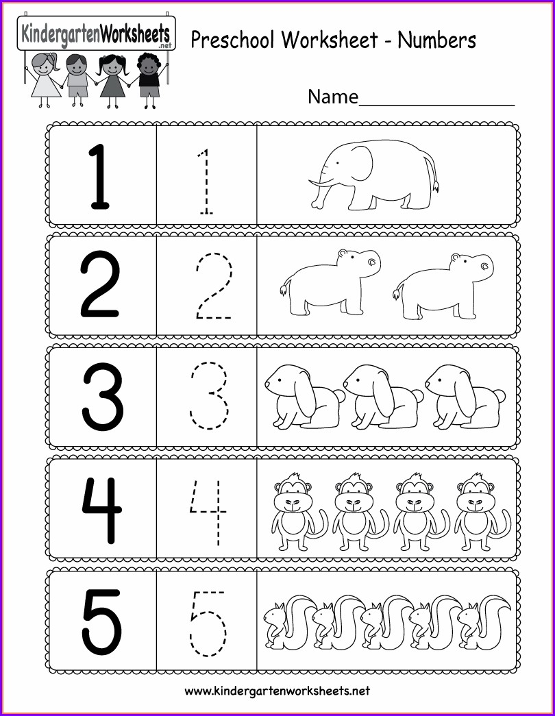 Worksheet Numbers For Preschool