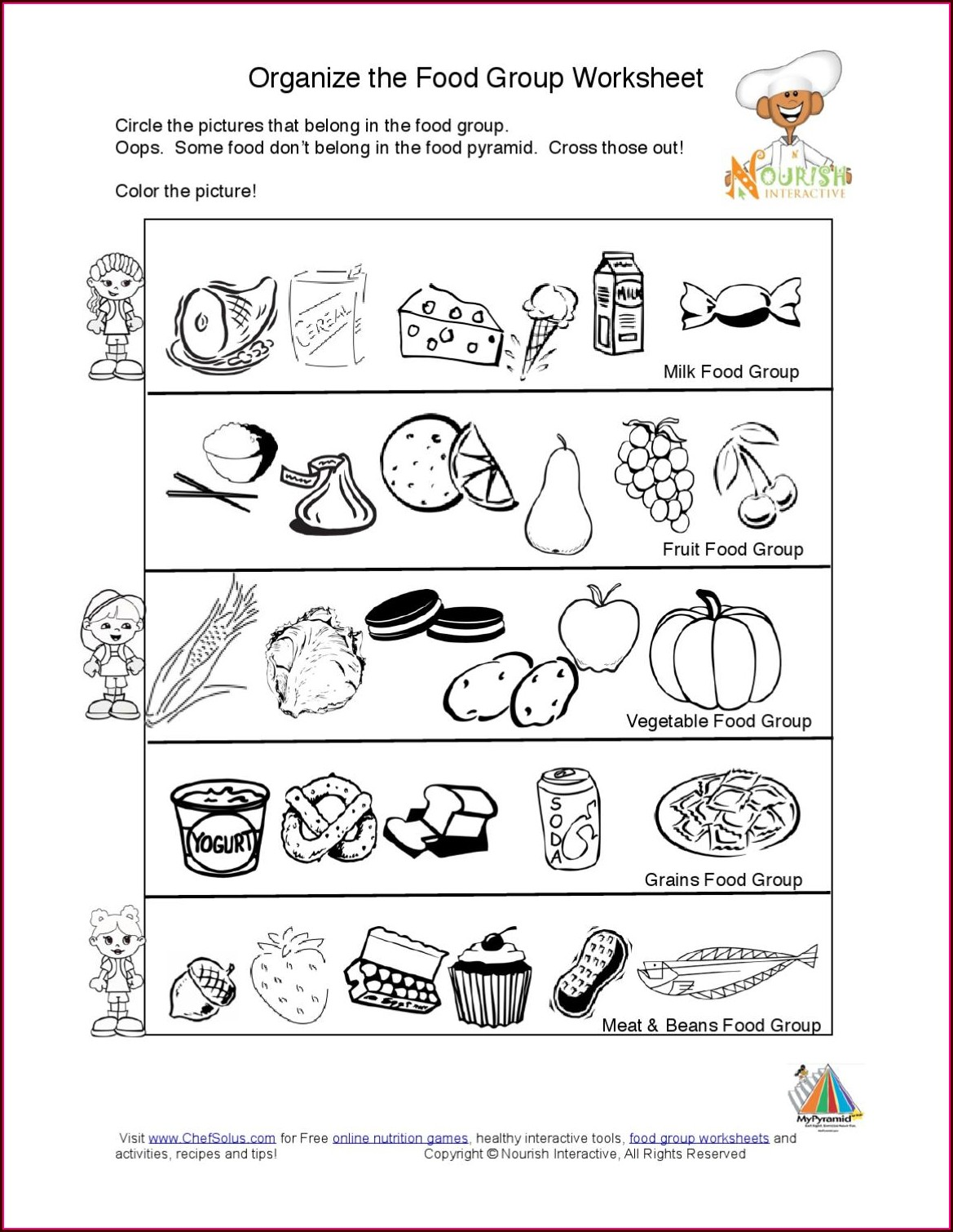 Worksheet On Food Groups For Grade 3