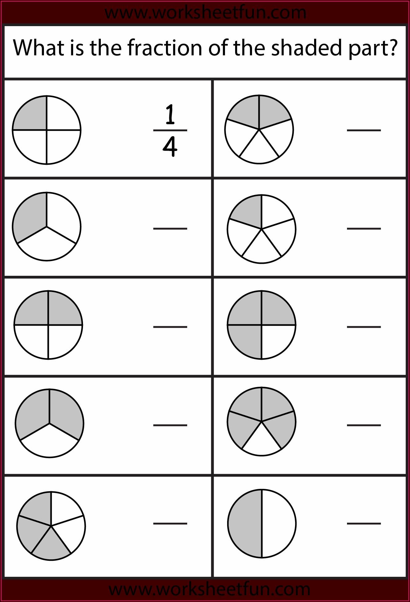 Worksheet On Fractions For Grade 4