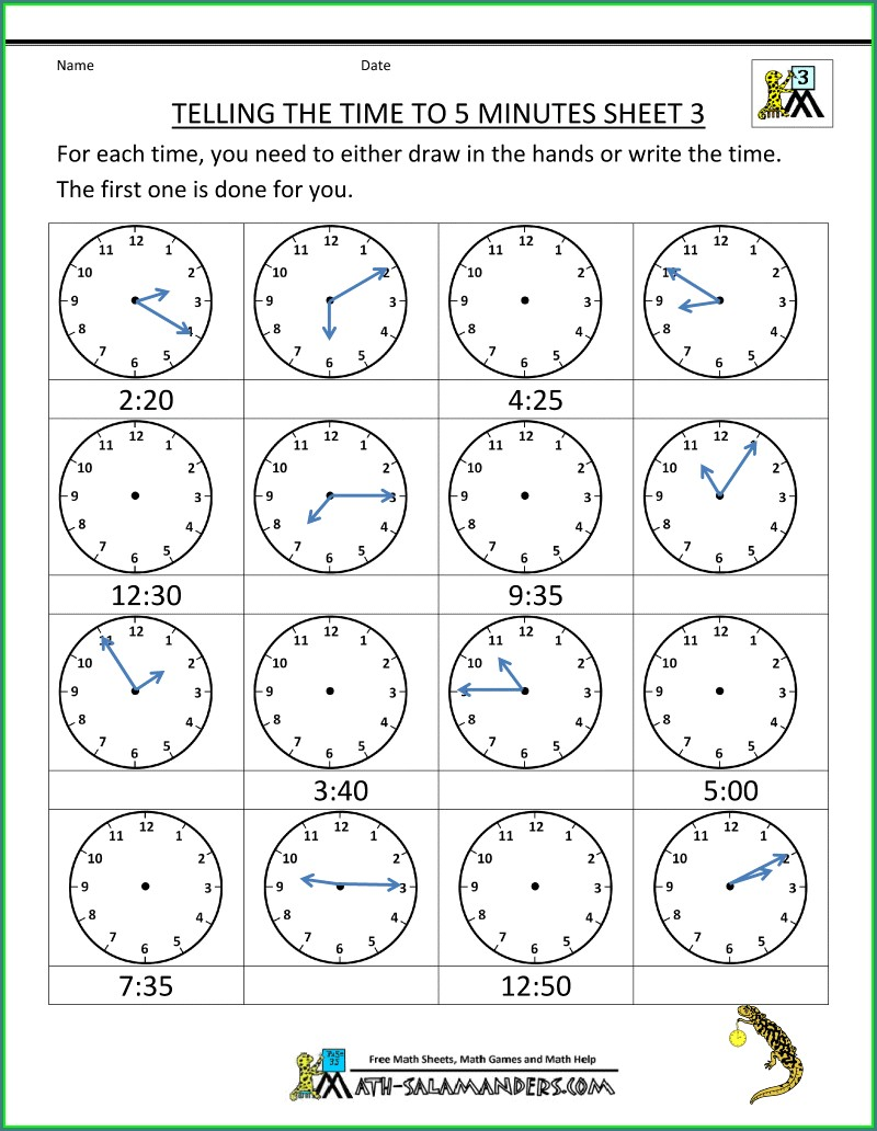 Worksheet On Time Conversion For Grade 5