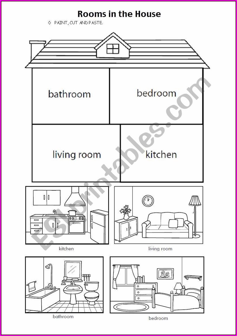 Worksheet Preschool Worksheet Parts Of The House