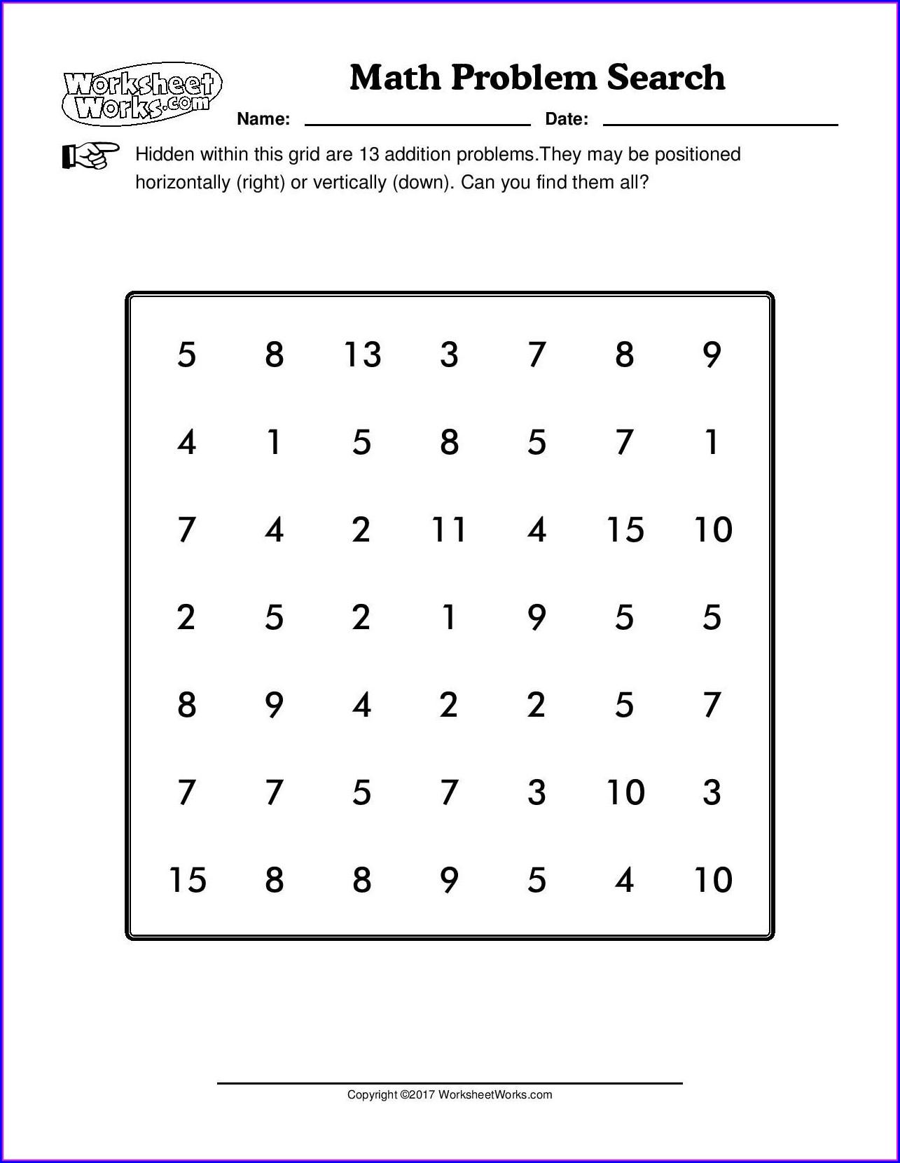 Worksheet Workscom Math