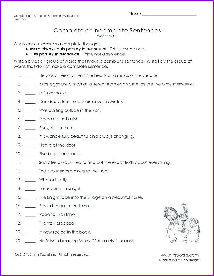 Worksheet Writing Sentences 1st Grade