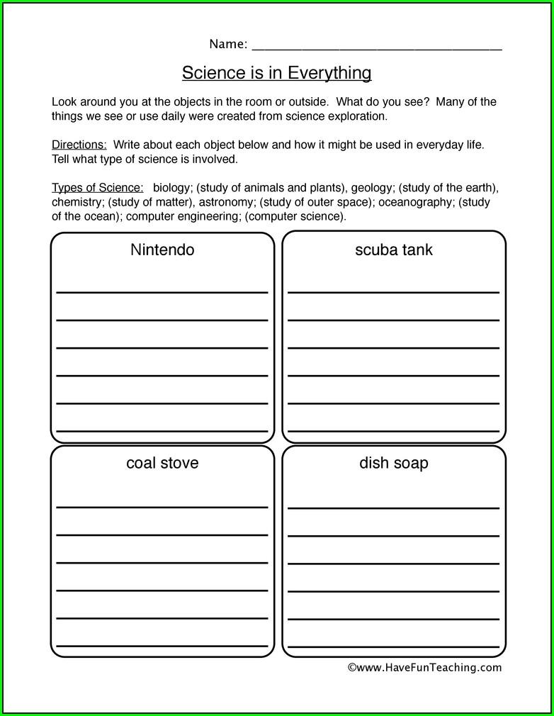 Worksheets For Scientific Method In Middle School