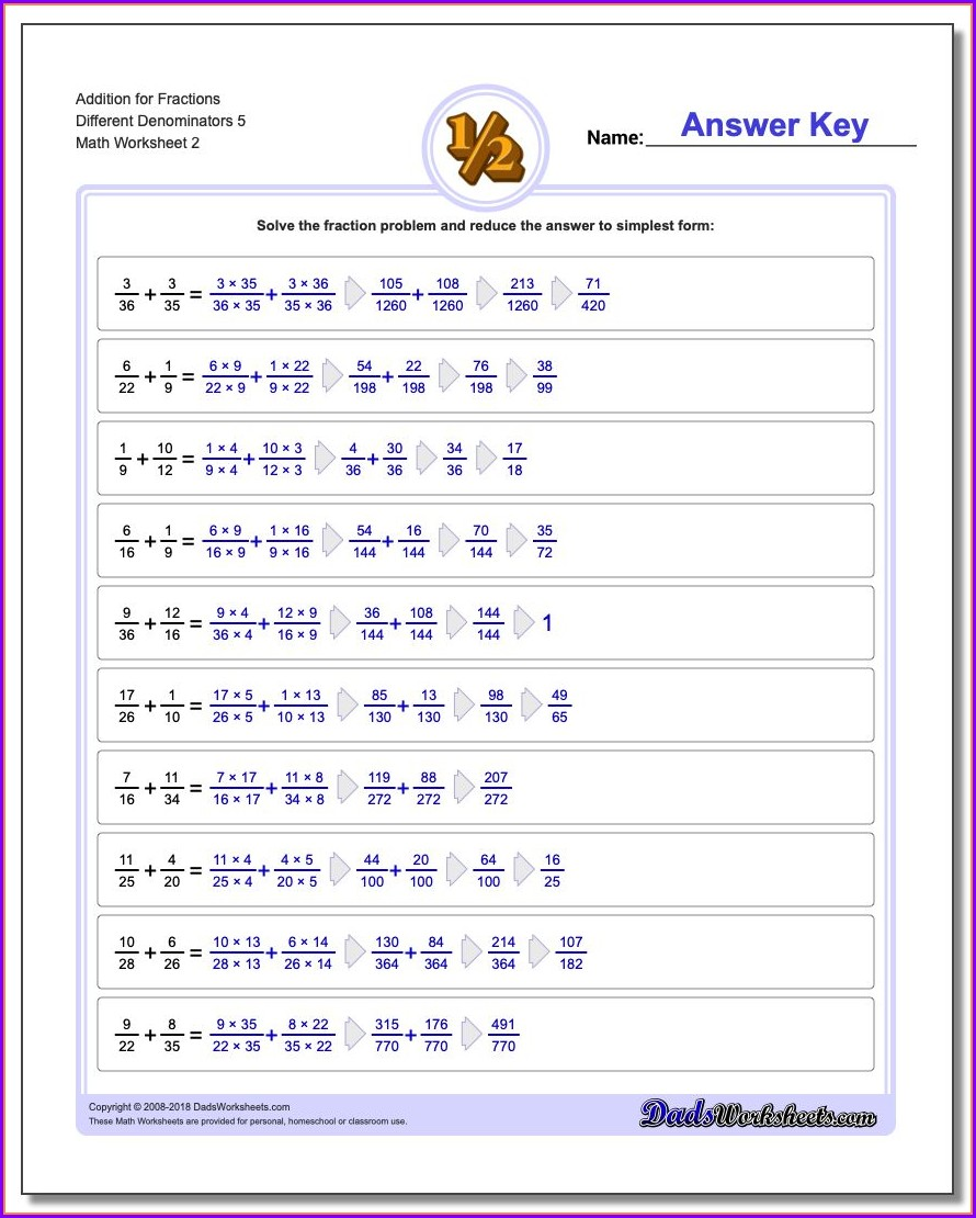 Worksheets In Fractions For Grade 4