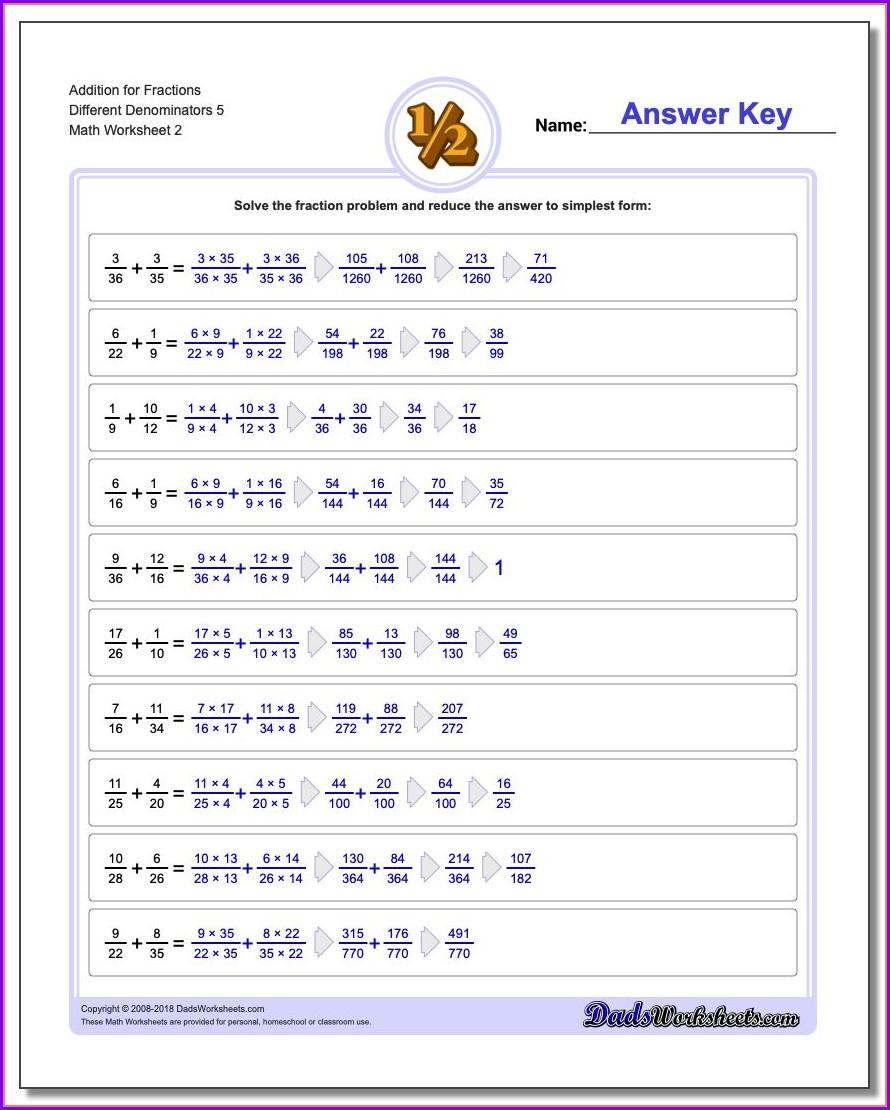 Worksheets In Fractions For Grade 4