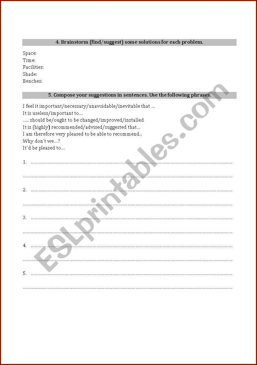 Writing A Questionnaire Worksheet