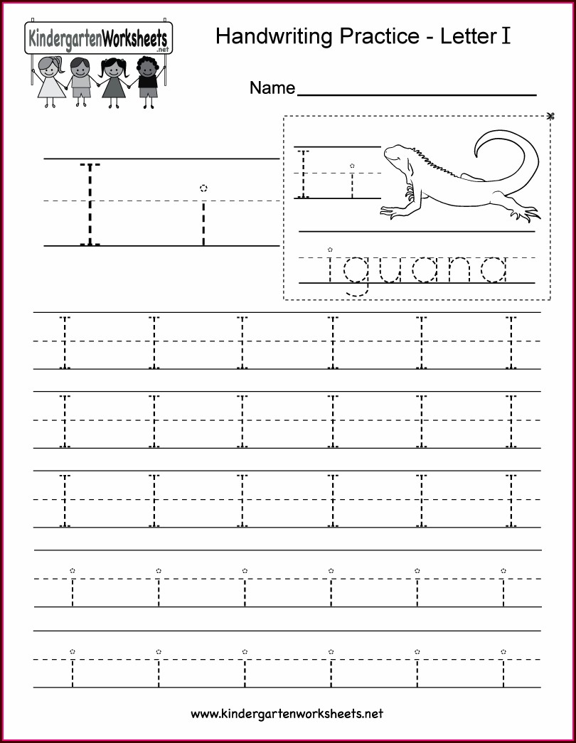Writing Alphabet Worksheet For Kindergarten