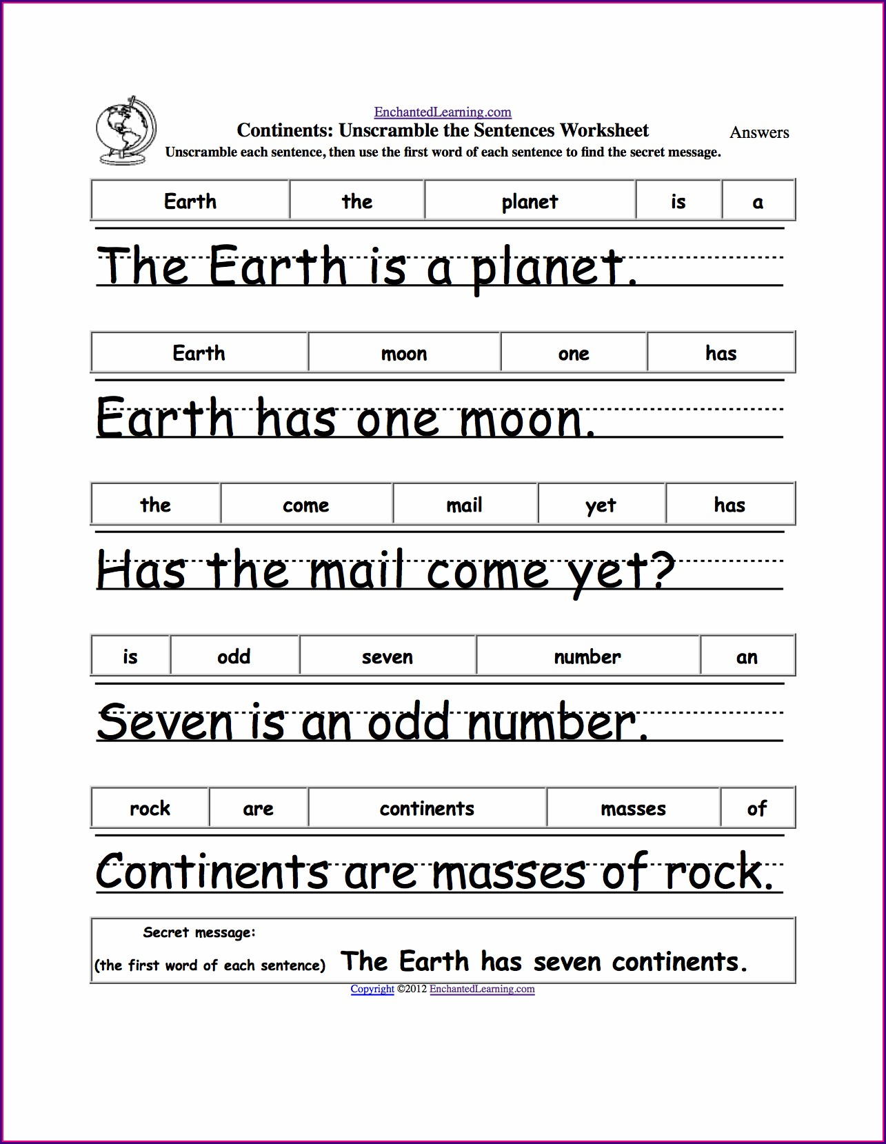 Writing Complete Sentences Worksheet 1st Grade
