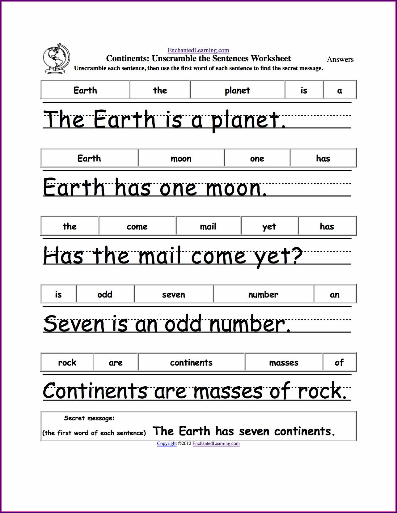 Writing Complete Sentences Worksheet 1st Grade