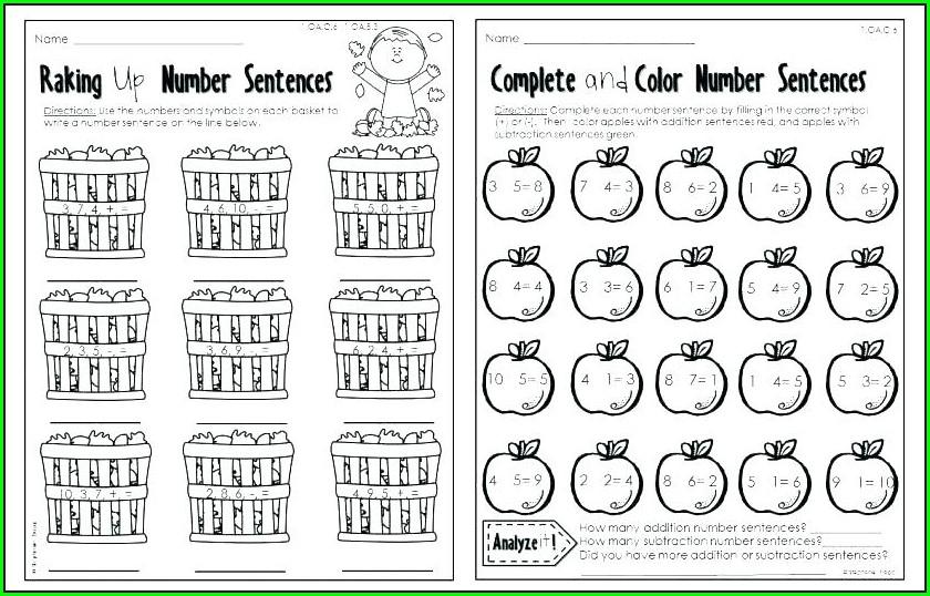 Writing Equivalent Number Sentences Worksheet