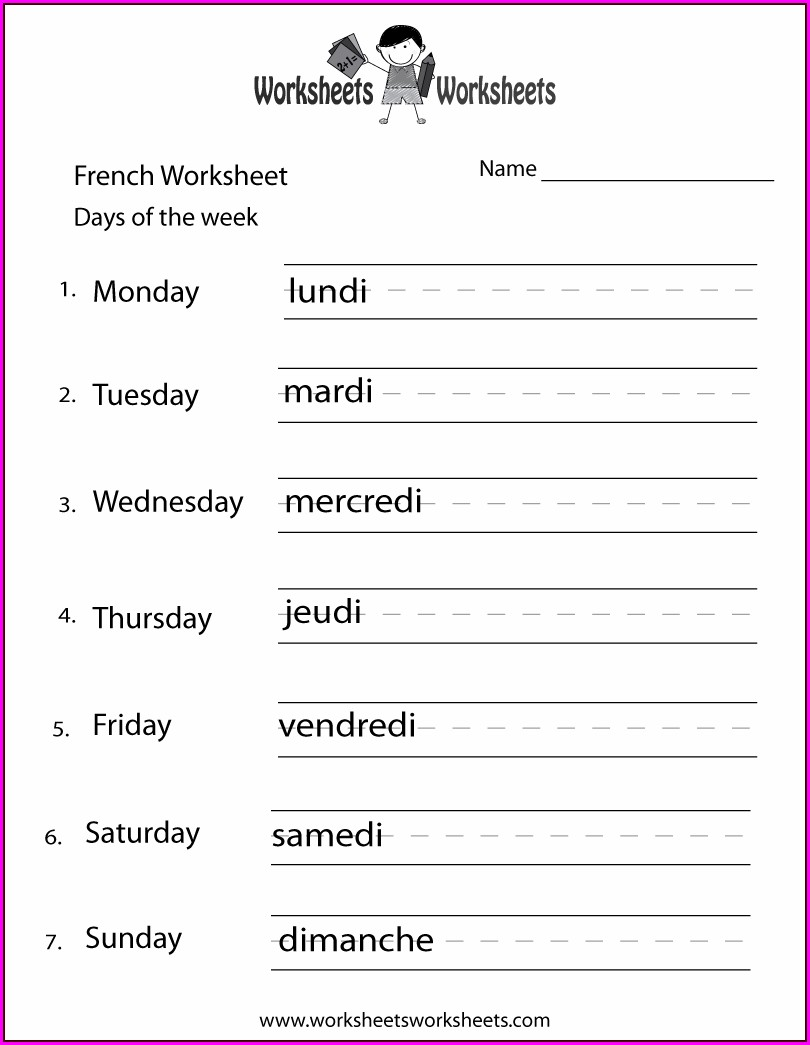 Writing Numbers In French Worksheet