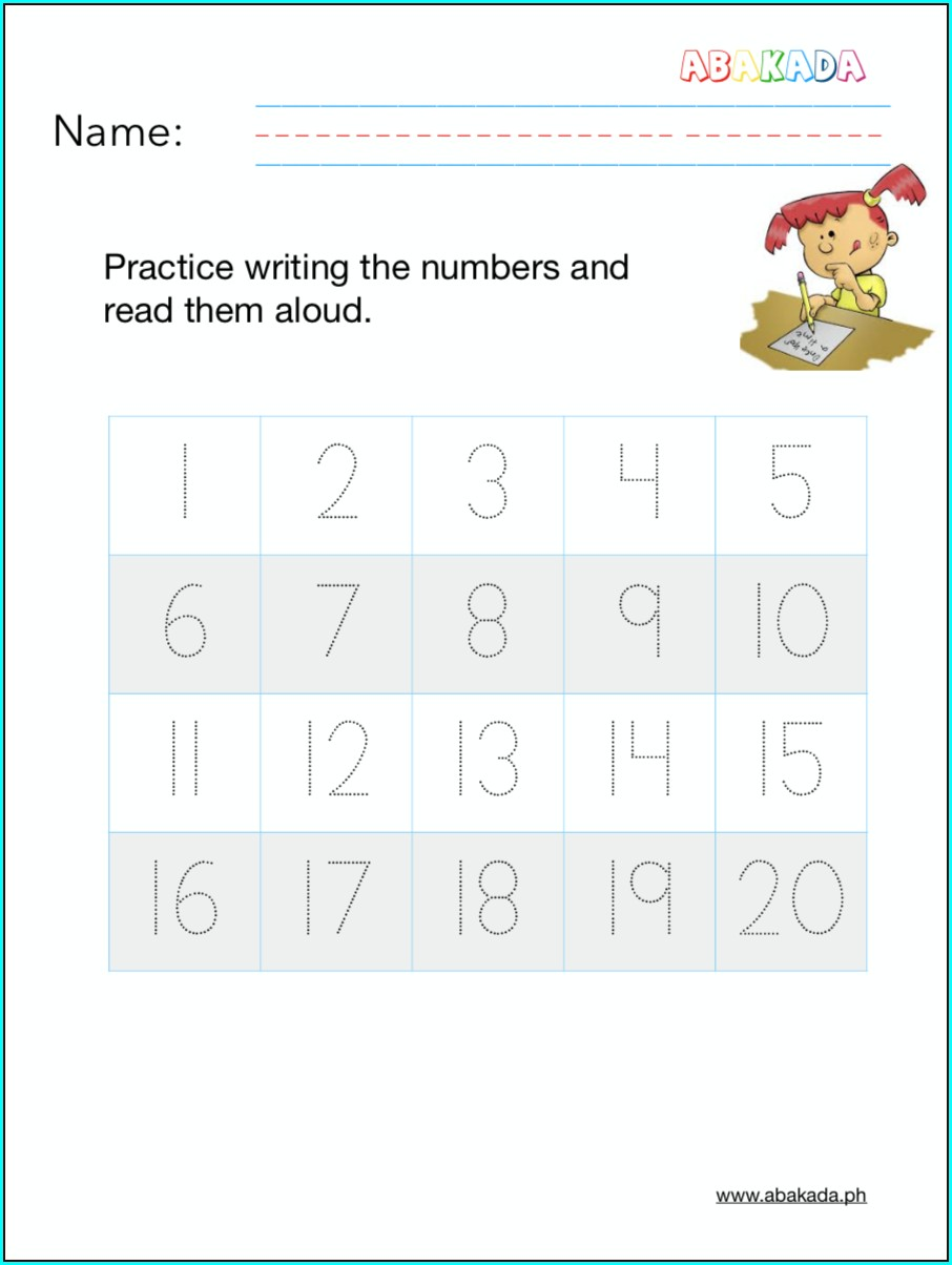 Writing Numbers Practice Worksheets Free