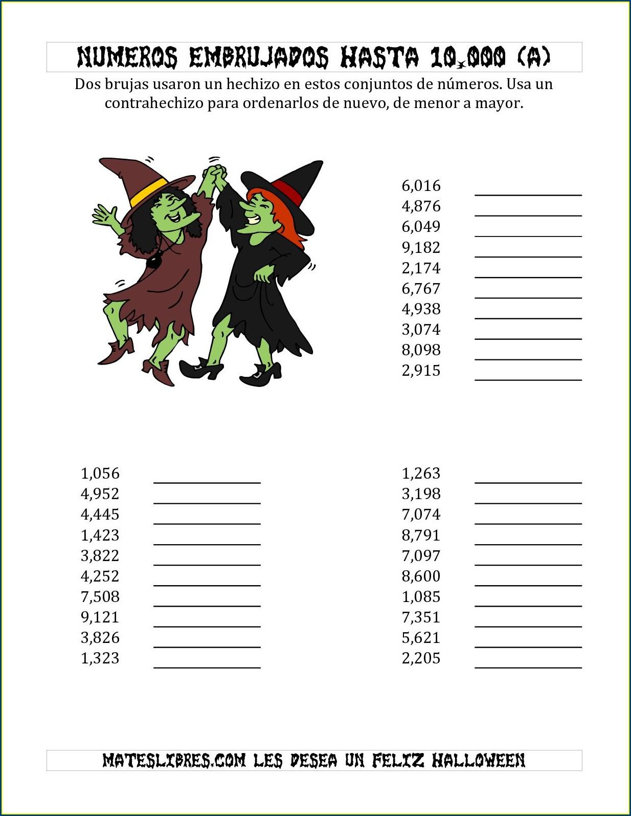 Writing Numbers To 10000 Worksheet