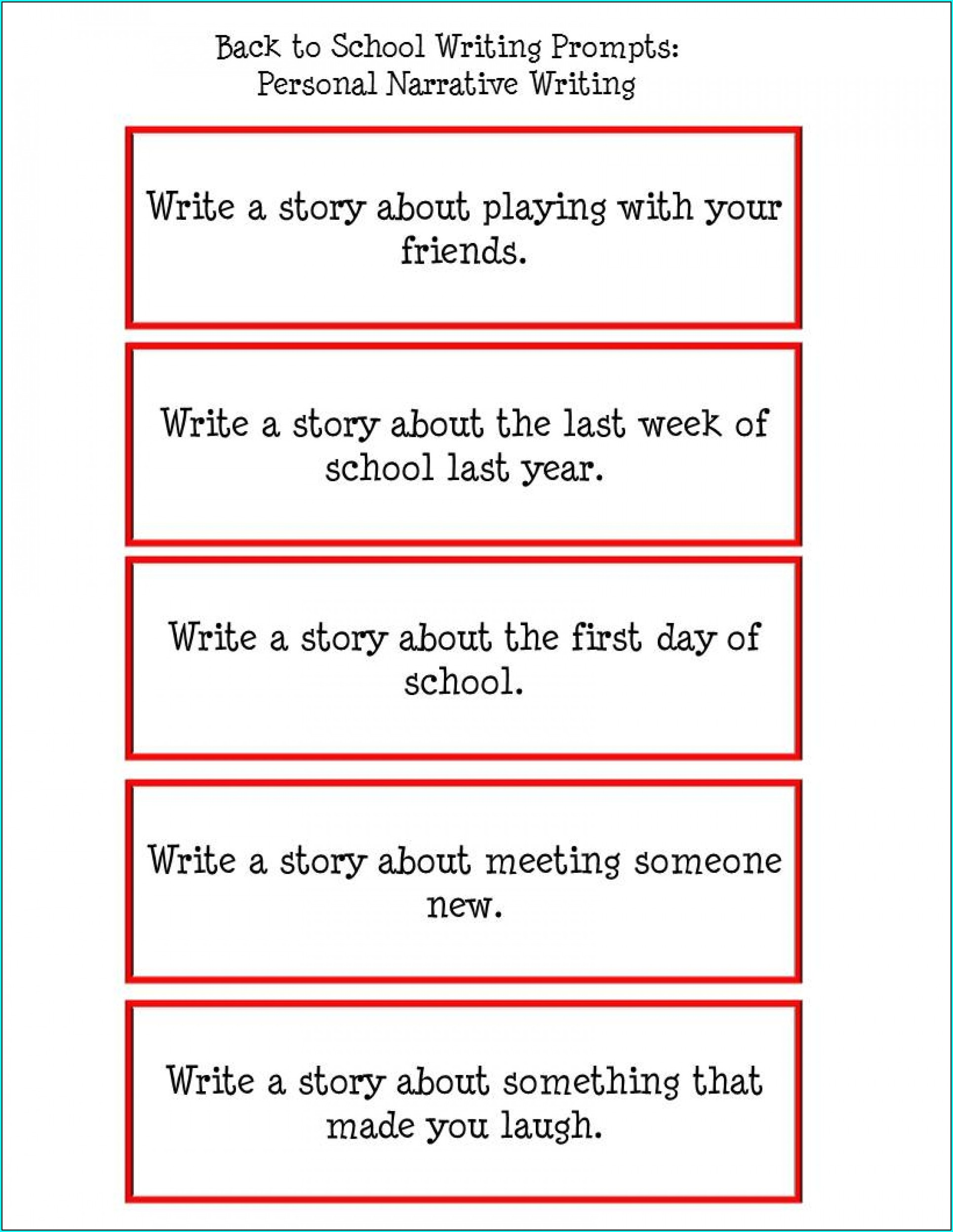 Writing Prompt 4th Grade Worksheet