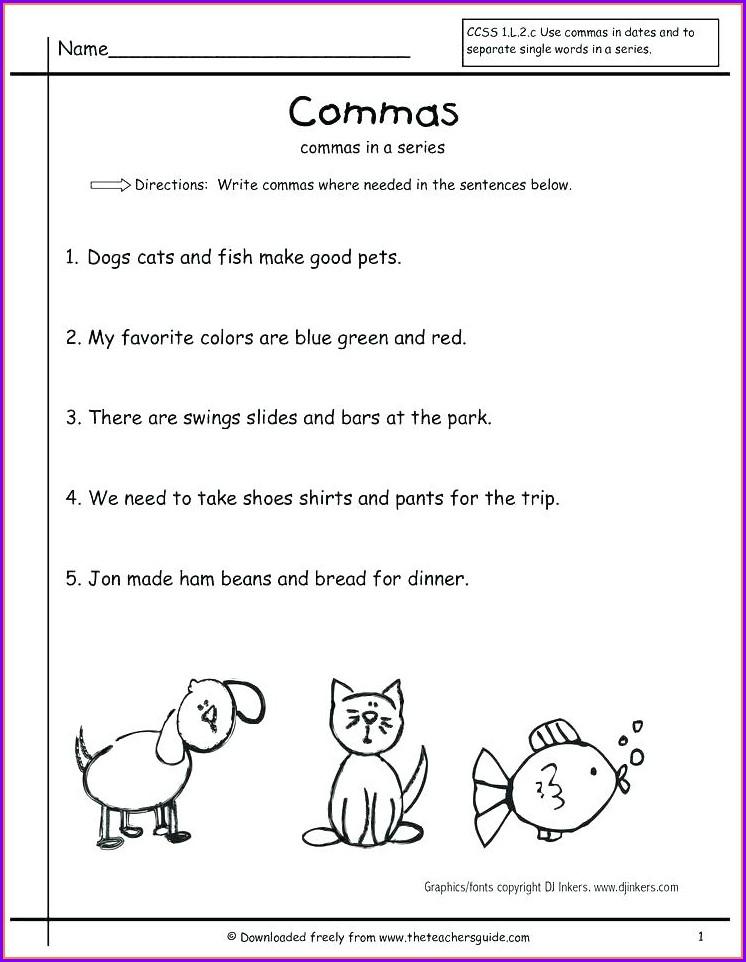 Writing Sentences Punctuation Worksheets