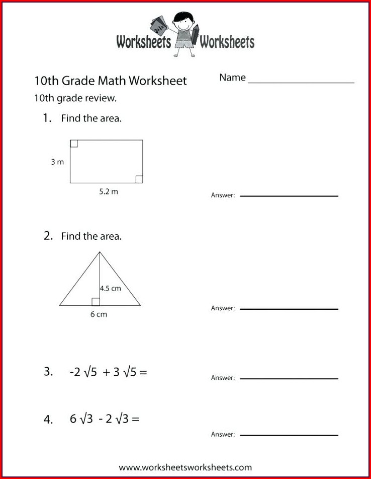 10th Grade High School Geometry Worksheets
