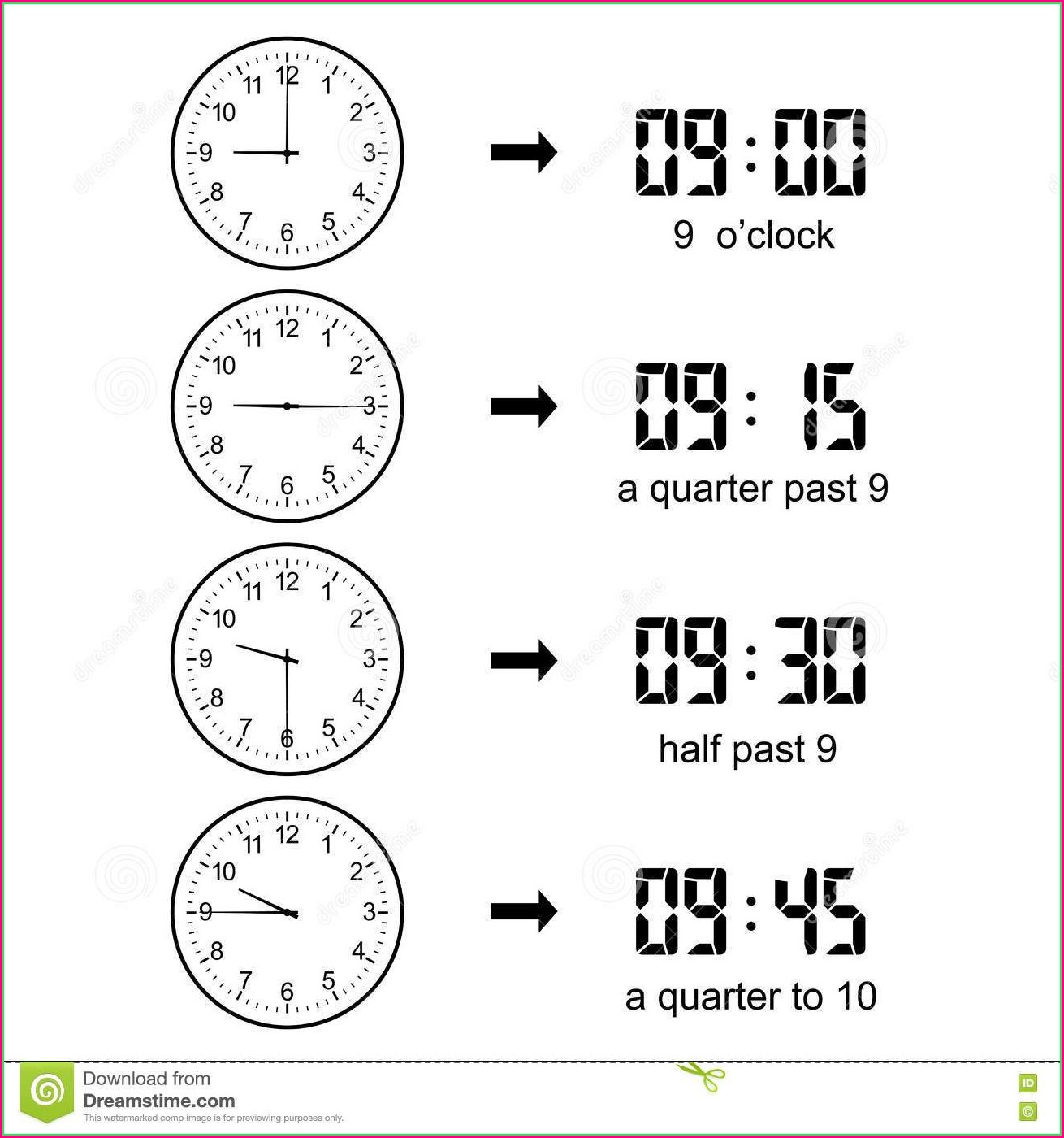 1st Grade Digital Time Worksheets
