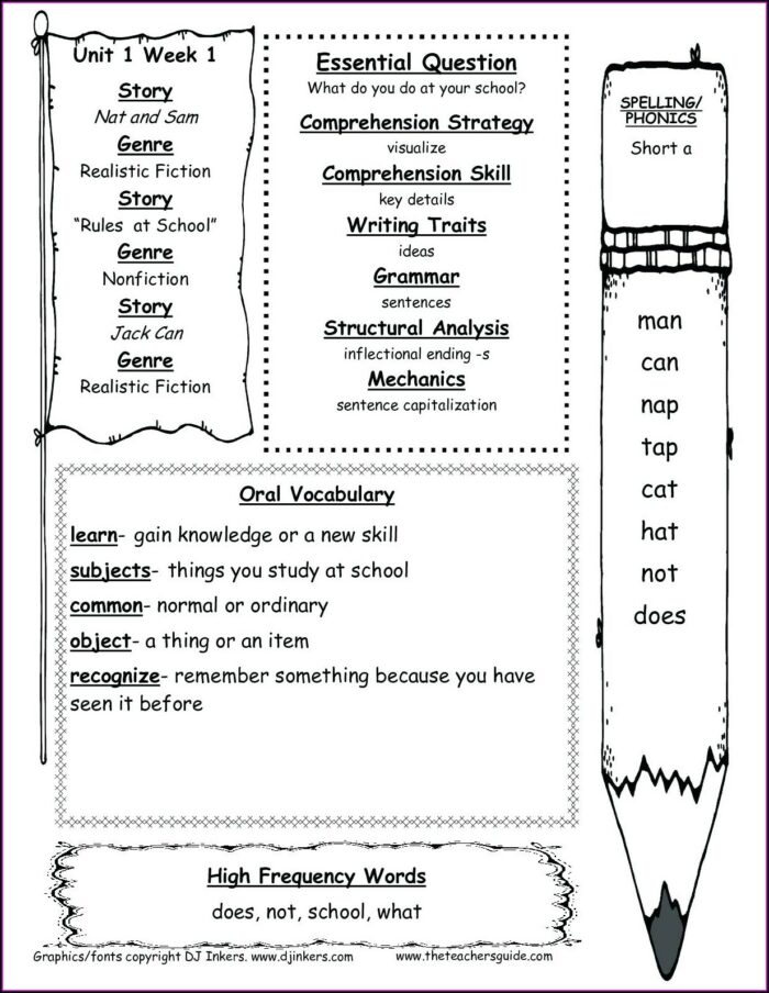 1st Grade First Grade Ela Worksheets