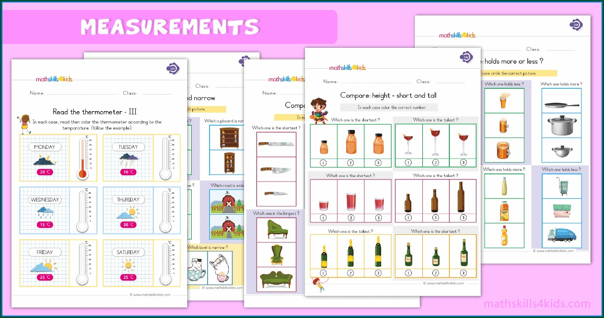 1st Grade First Grade Measurement Worksheets And Printables