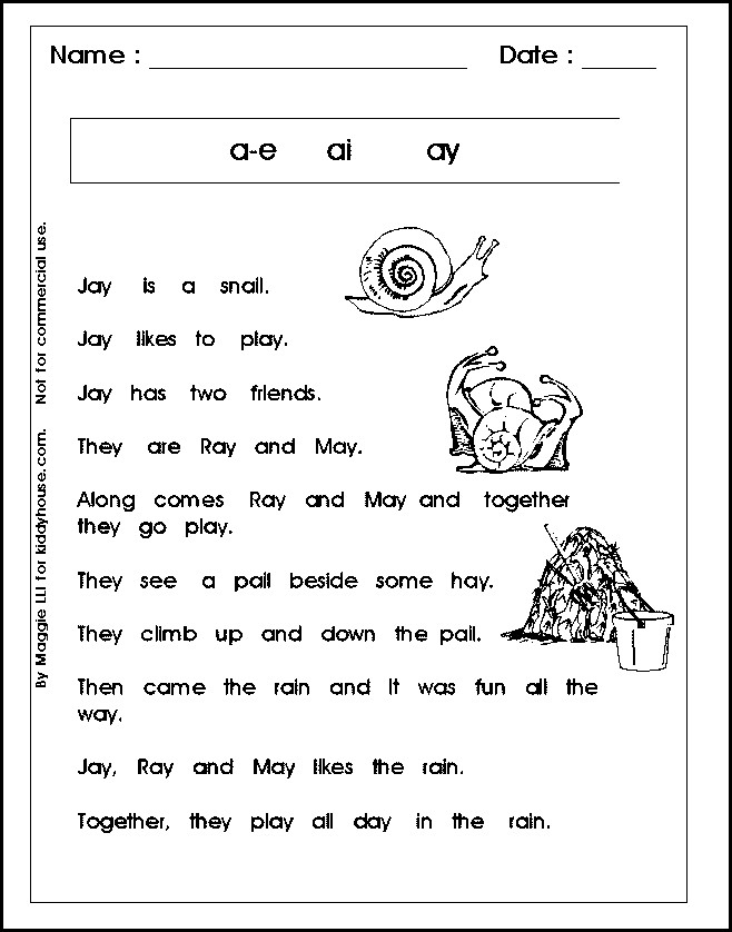 1st Grade Reading Worksheets In Spanish