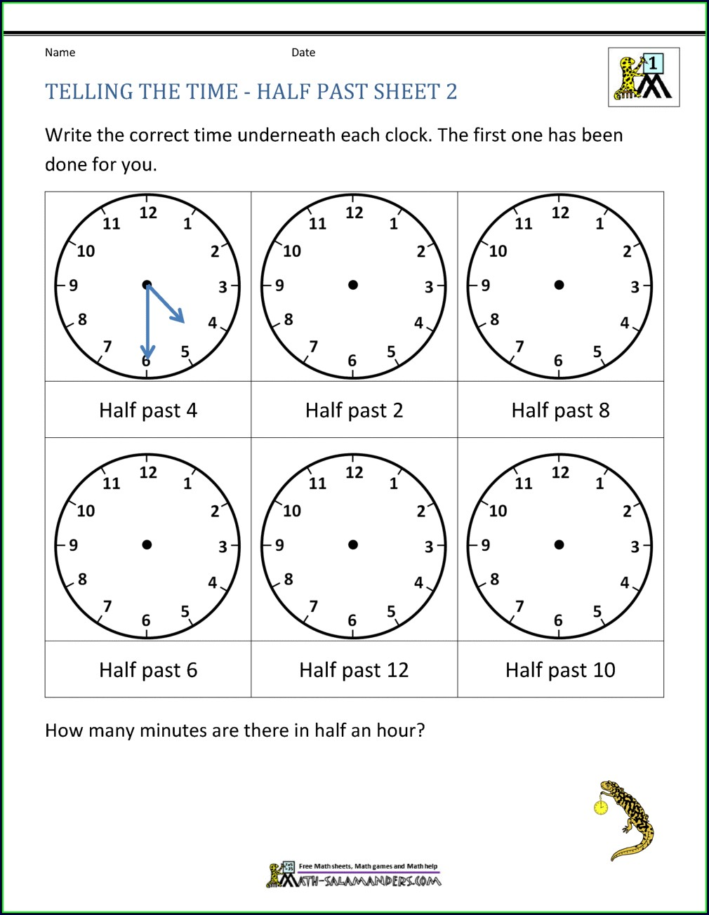 1st Grade Telling Time Worksheets Pdf Free