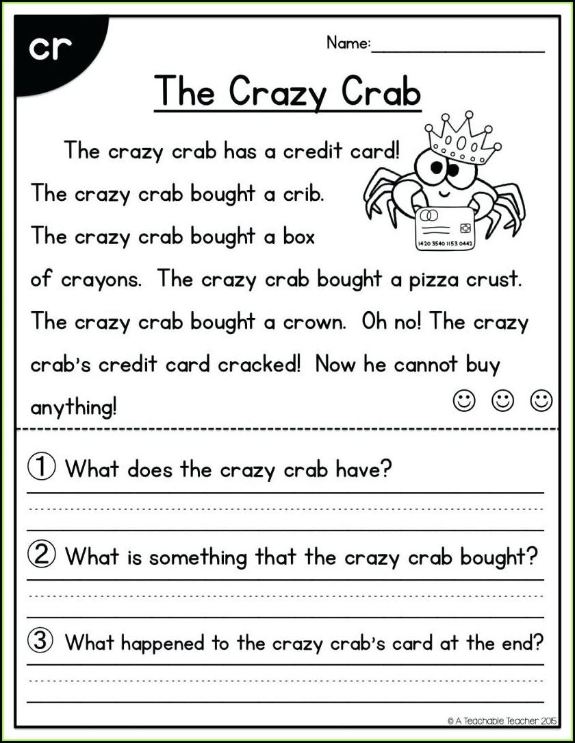 1st Grade Worksheets Pdf Reading