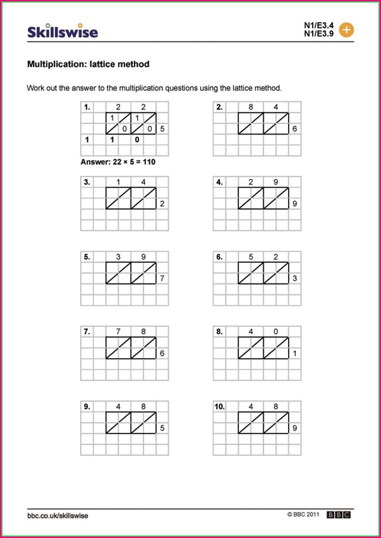 2 Digit Times 2 Digit Multiplication Worksheets