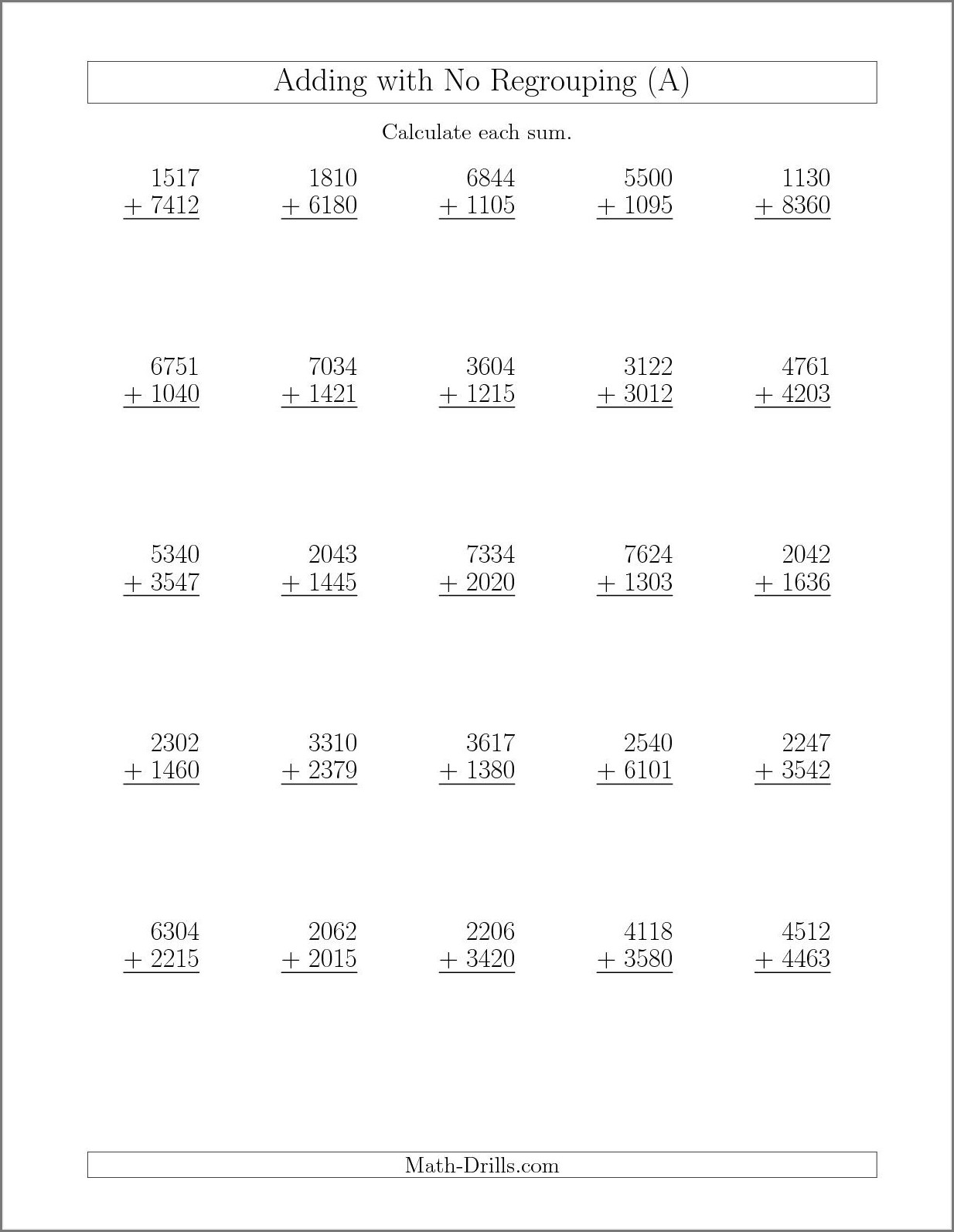 2nd Grade 3 Digit Subtraction Worksheets