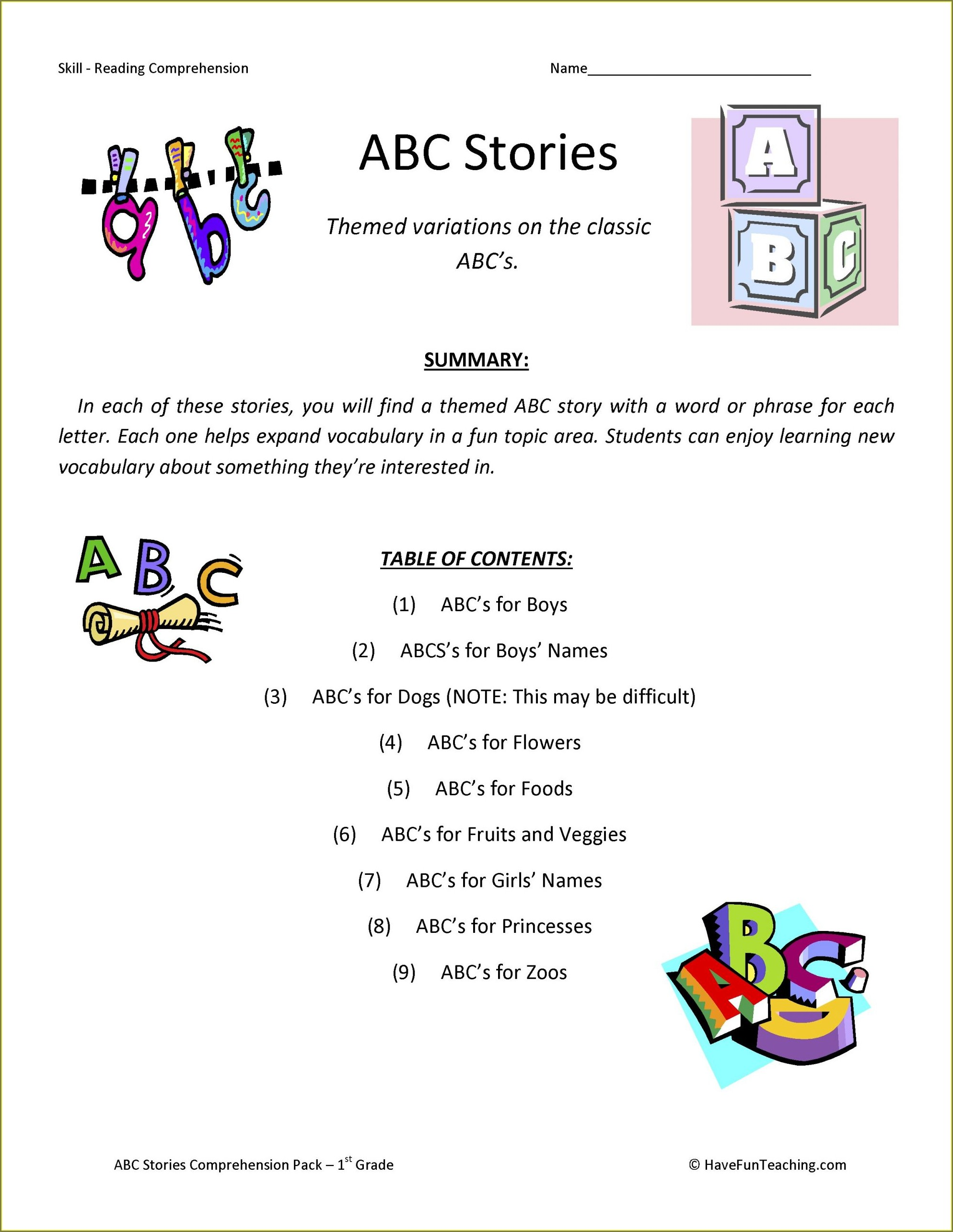 2nd Grade Abbreviations Worksheets