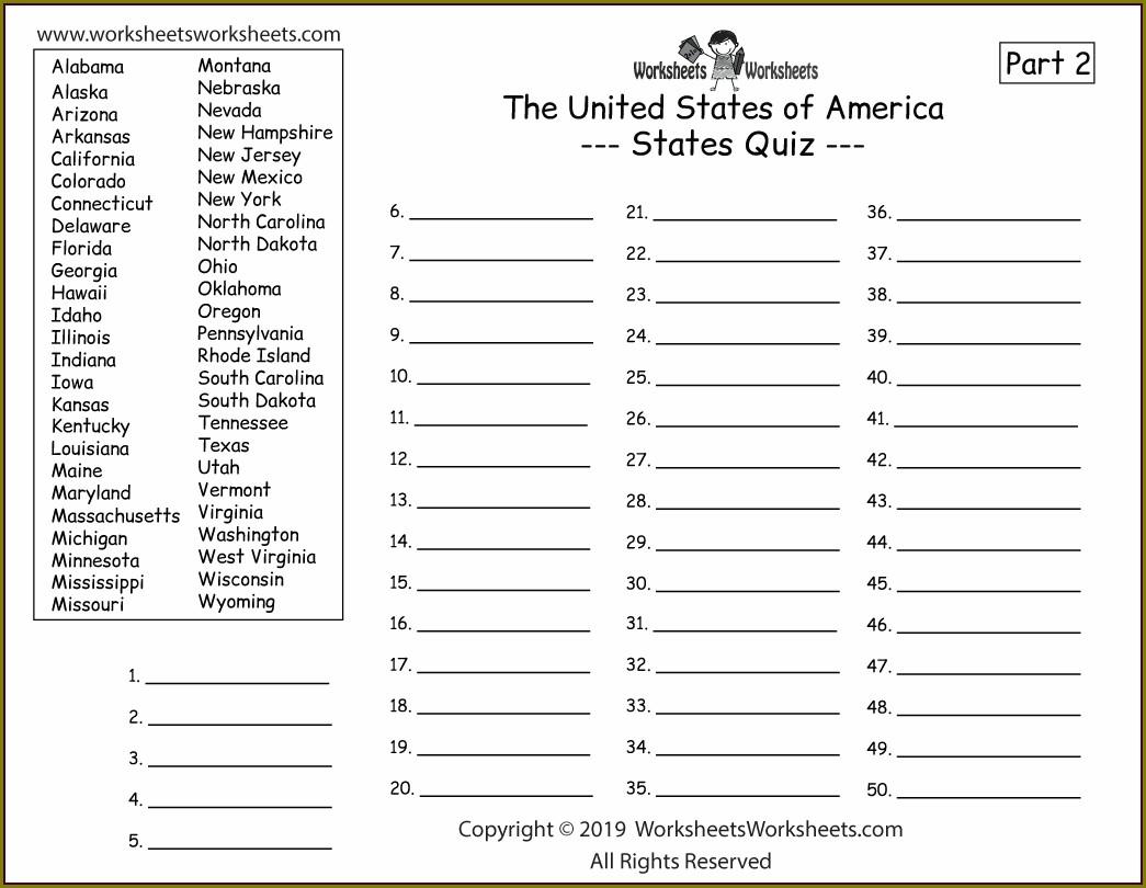 2nd Grade Geography Worksheets Grade 2