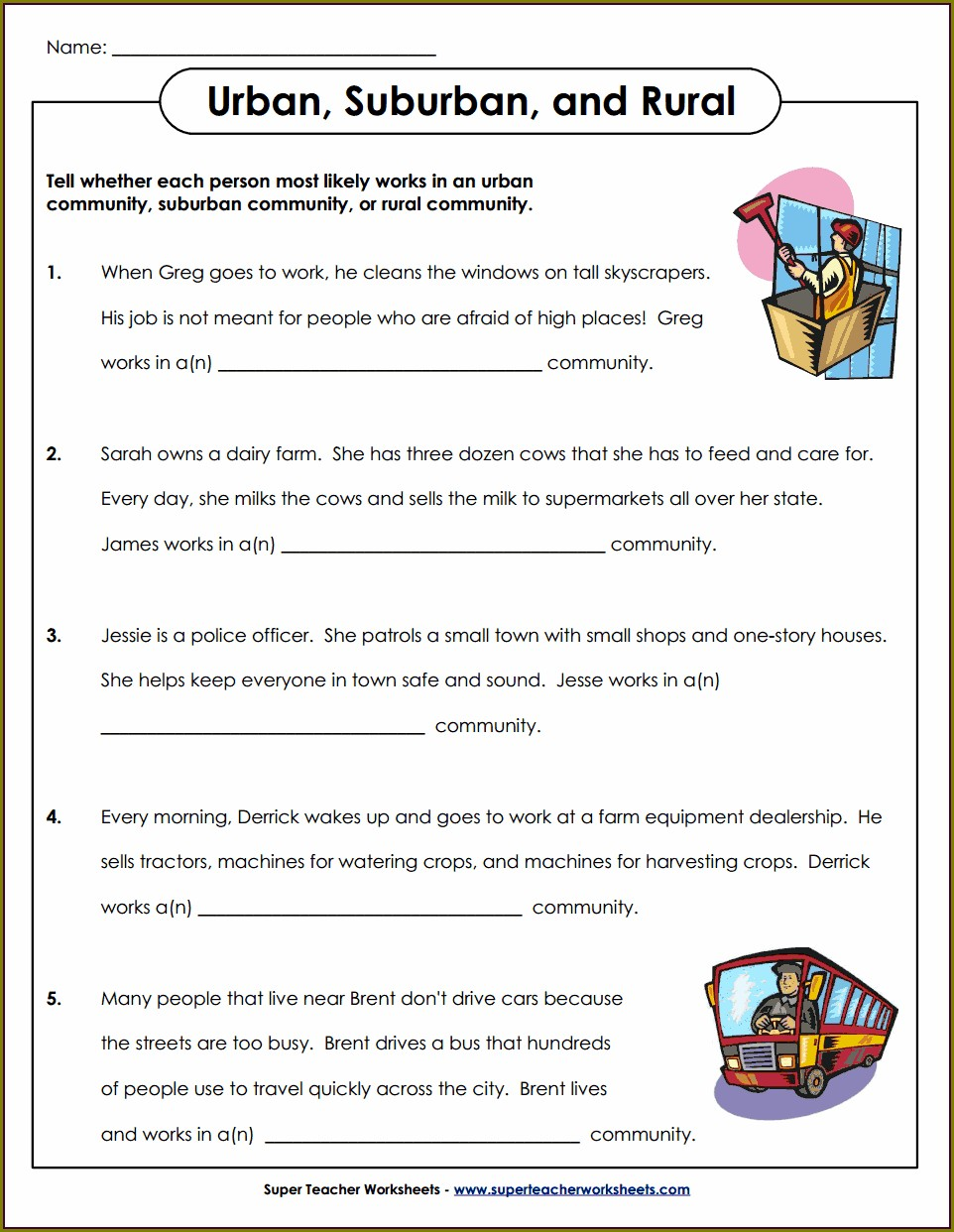 2nd Grade Geography Worksheets Pdf