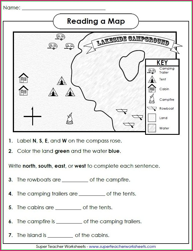 2nd Grade Map Skills Worksheets Free