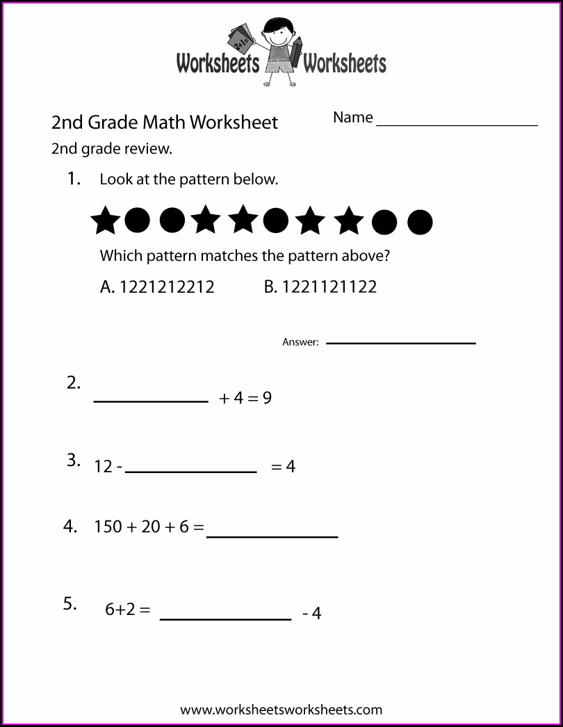 2nd Grade Math Worksheets Free Printables