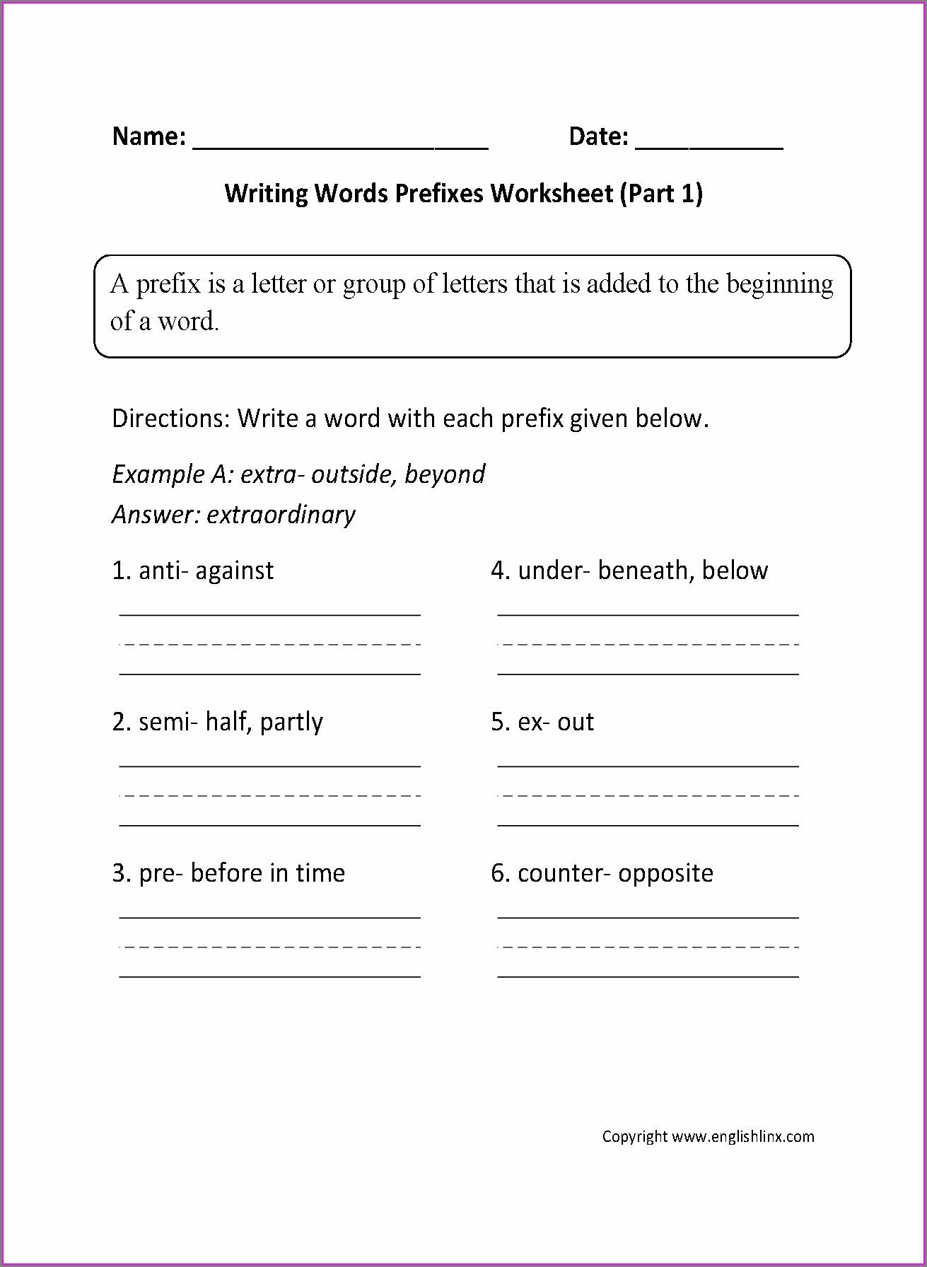 2nd Grade Prefix Dis Worksheet