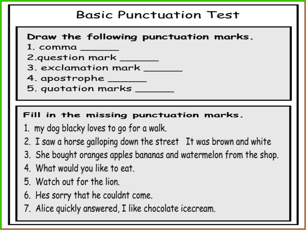 2nd Grade Quotation Marks Worksheets Pdf