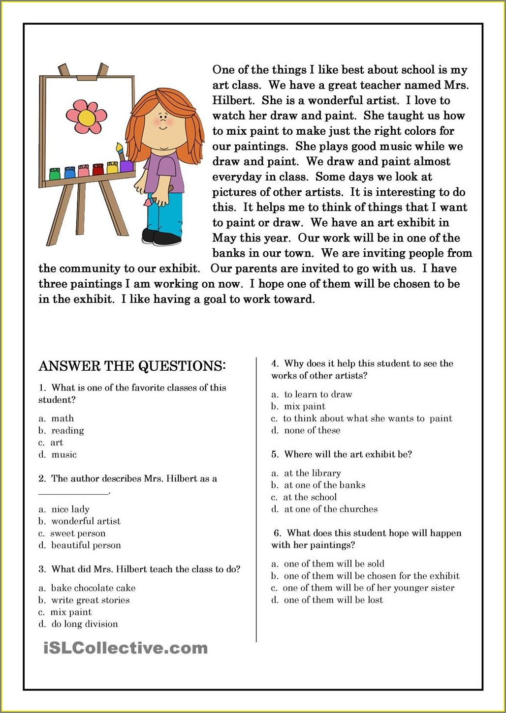 2nd Grade Reading Worksheet Pdf