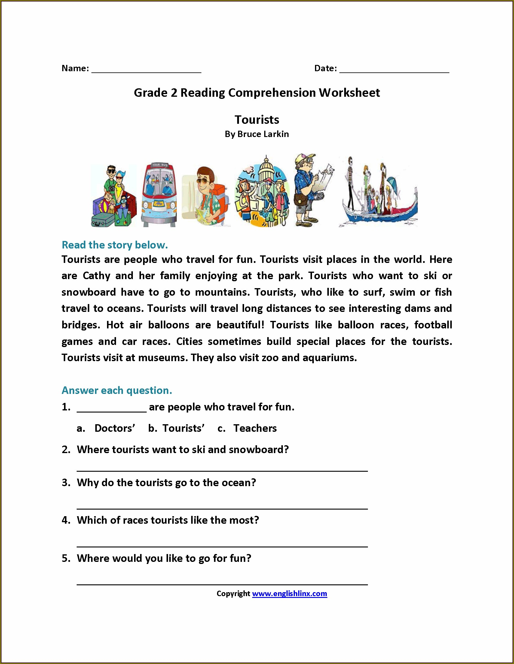 2nd Grade Reading Worksheets In Spanish